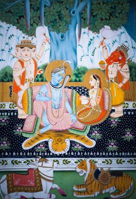 Shiva, Parvati, Brahma And Ganesh
