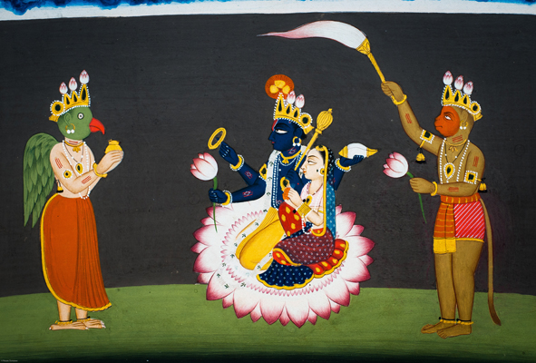 Sita, Rama, Garuda And Hanuman