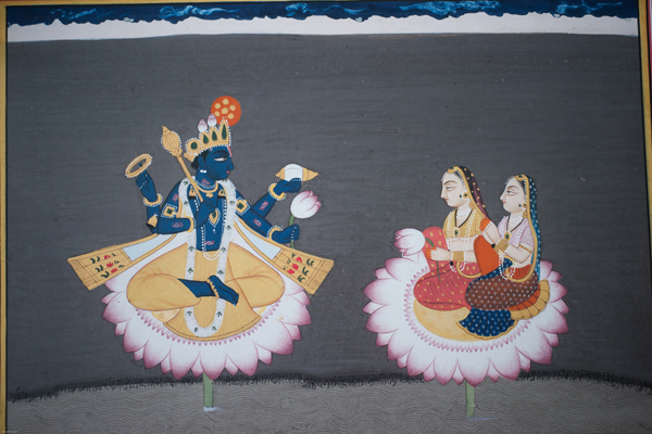 Lord Vishnu And Lakshmis