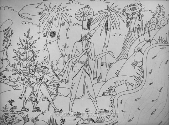 Rama, Laksman And Sage Visvamitra