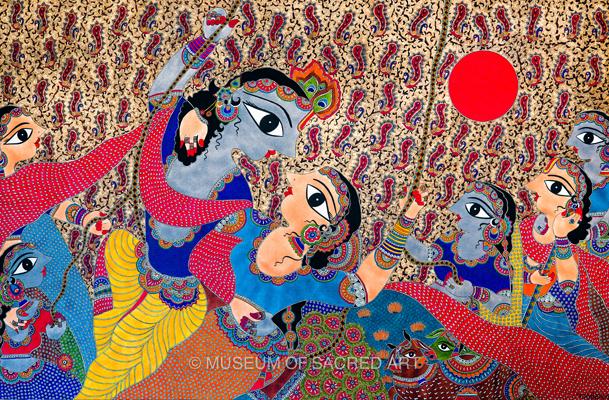 Radha Krishna With Gopis