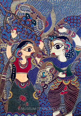 Radha And Krishna Dancing