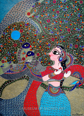 Radha Steals Krishna's Flute