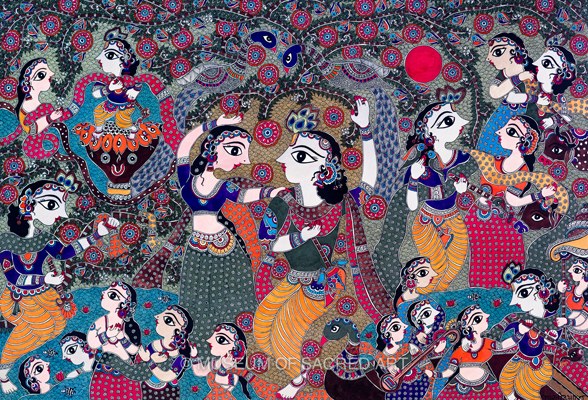 Six pastimes of Krishna with the Gopis