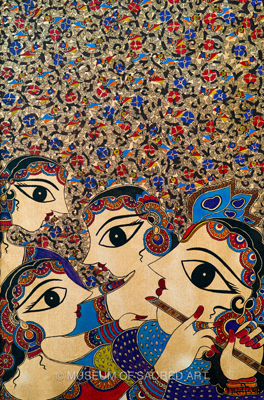 Golden Krishna And Gopis