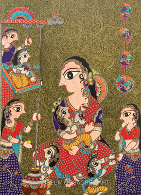 Scenes Of Yashoda And Krishna