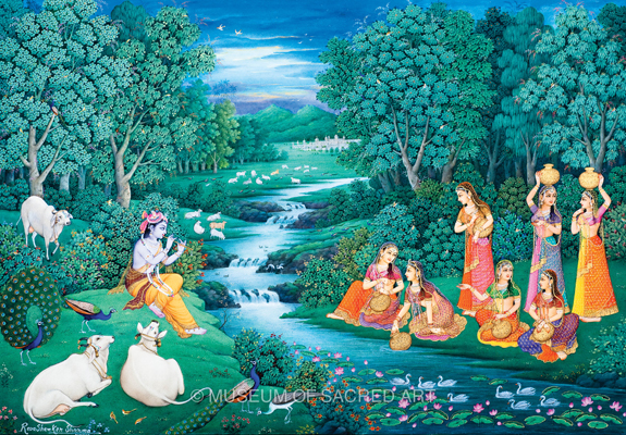 Krishna Watches The Gopis Fetch Water