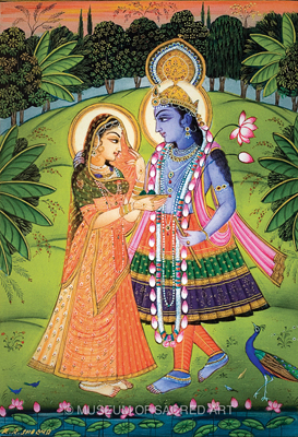 Radha Offers Betel Nut to Krishna
