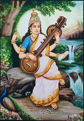Mother Saraswati, The Goddess Of Knowledge