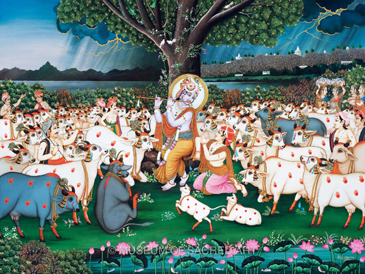 Cowherd Boy Entreats Krishna