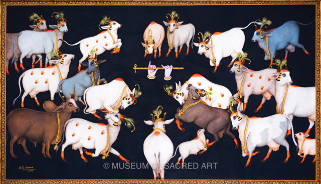 Krishna's Flute Attracts The Cows