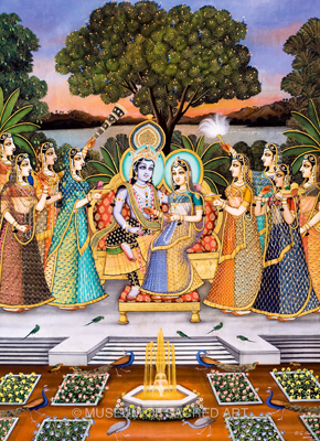 Radha Krishna Enjoying with the Gopis