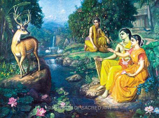 Sita's Seduction By Golden Deer
