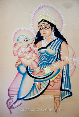 Parvati And Baby Ganesha