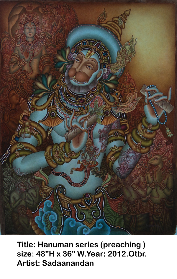 Hanuman Preaching