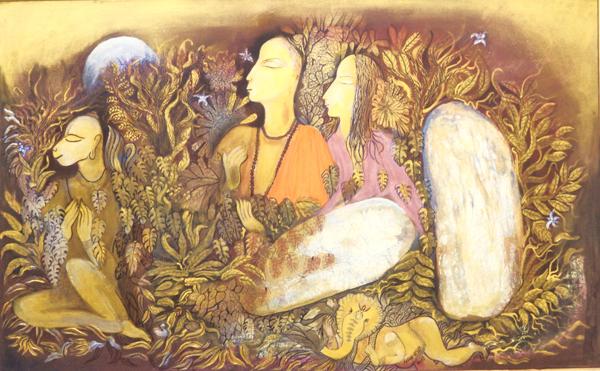 Ram Sita & Hanuman in Panchavati