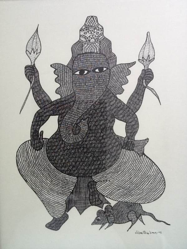 Ganesh With Lotus Buds