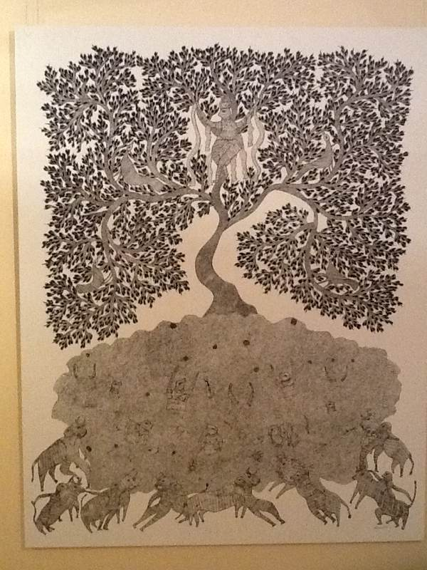 Krishna On A Tree