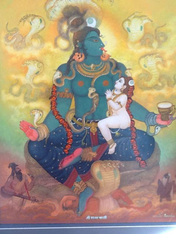 Shanti Kali Nursing Infant Shiva