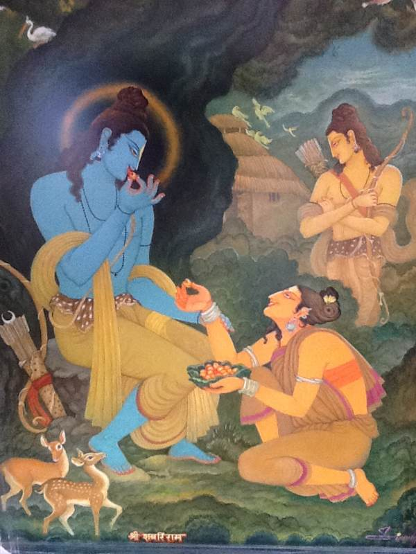 Sabari Feeding Fruits to Lord Rama