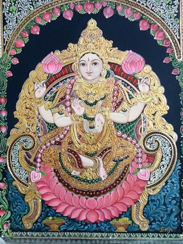 Vishnu With Lotus Flowers