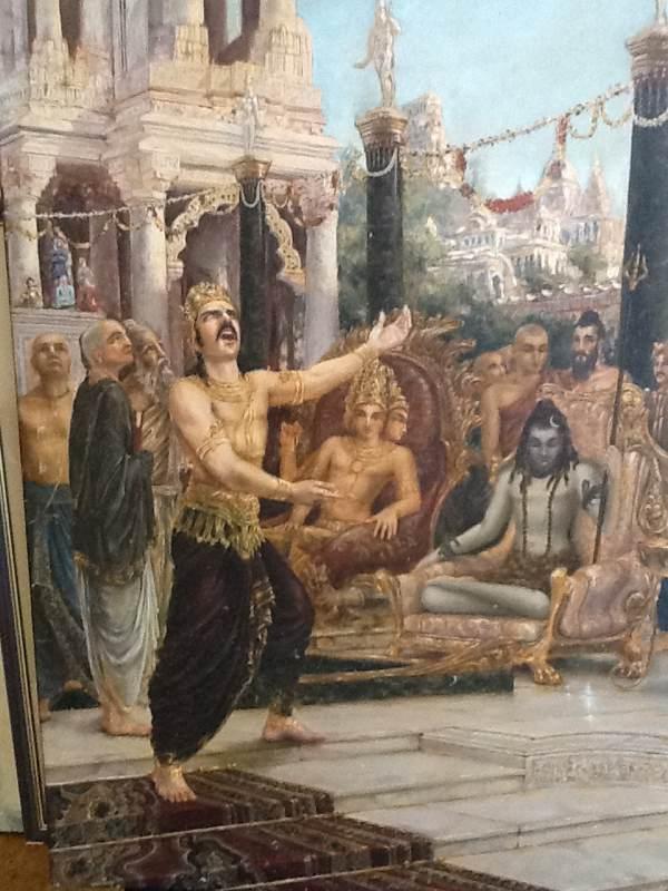 Shiva Tolerates Daksha's Rebukes