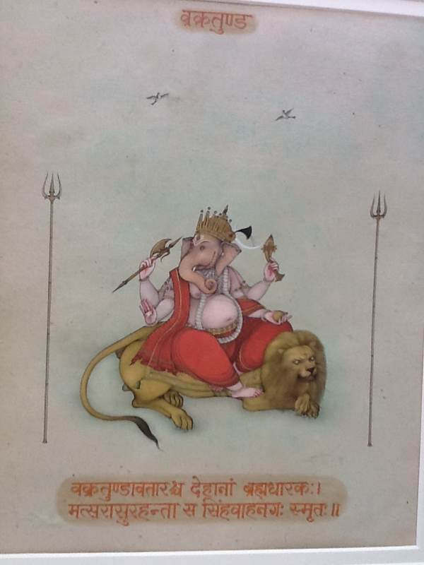 Ganesh On A Lion