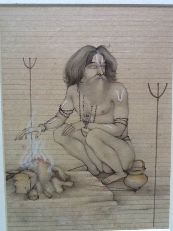 Sadhu At The Fire