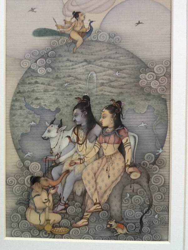 Siva, Parvati, Ganesha And Cupid
