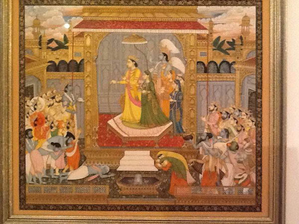 Wedding Between Rama And Sita