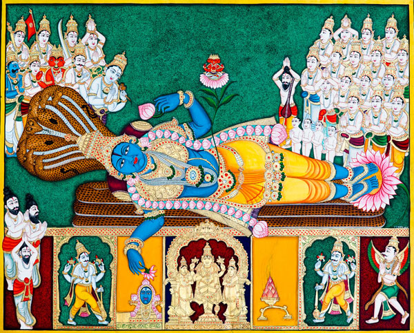 Lord Vishnu Lying on Sesanaga