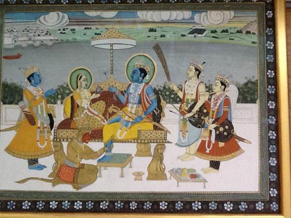 Sita, Rama, Lakshman, Hanuman