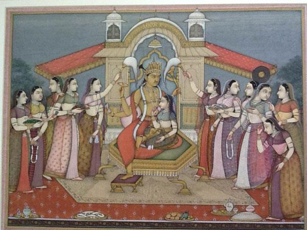 Radha, Krishna And Gopis