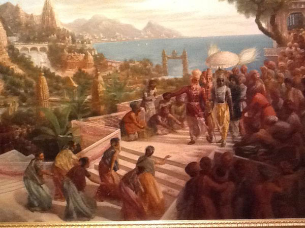 Krishna Enters The City Of Dvaraka