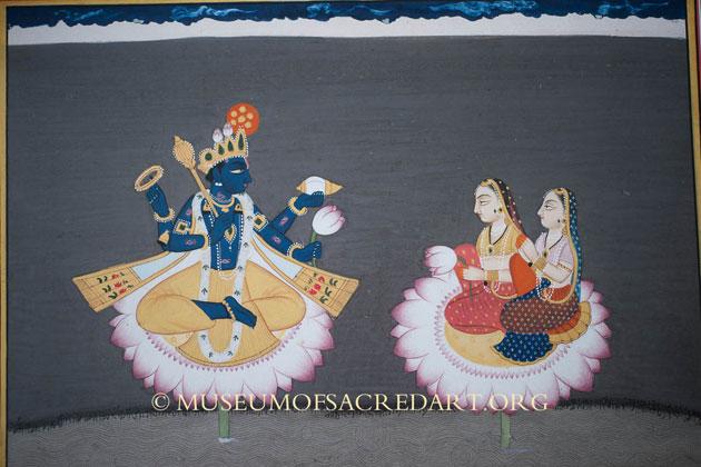 Vishnu With Consorts