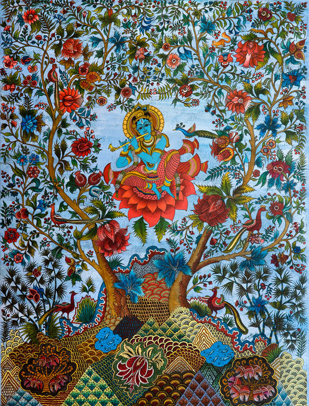 Krishna in a Tree