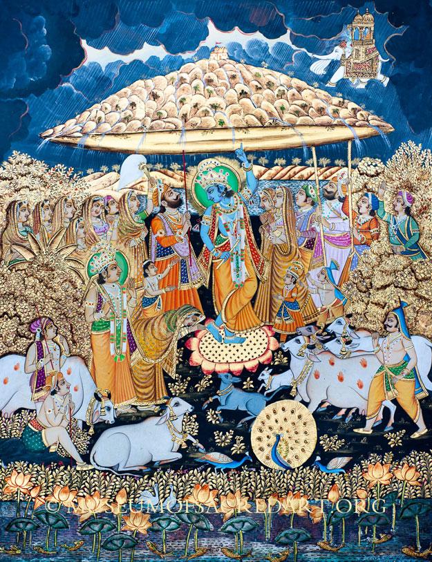 Krishna Lifting Govardhana