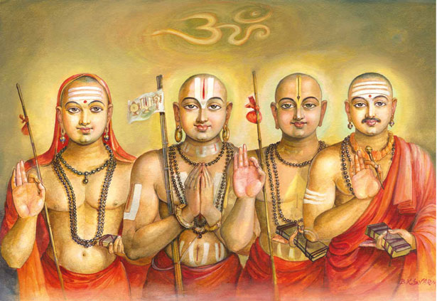 Shankara, Ramanuja, Madhava and Basava
