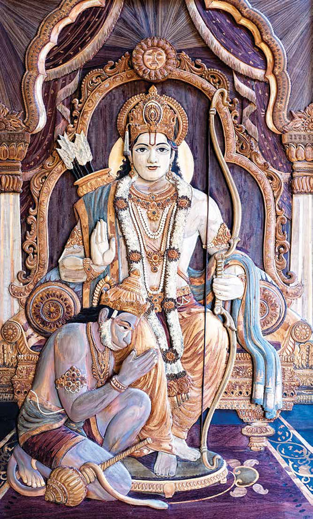 King Rama with Hanuman