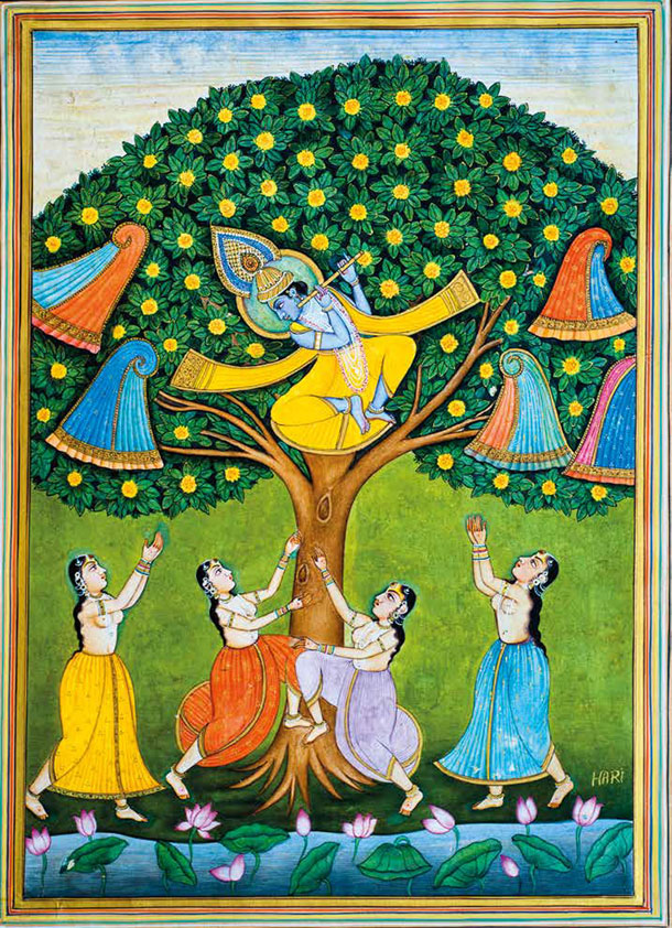 Krishna Stealing the Gopis' Clothes
