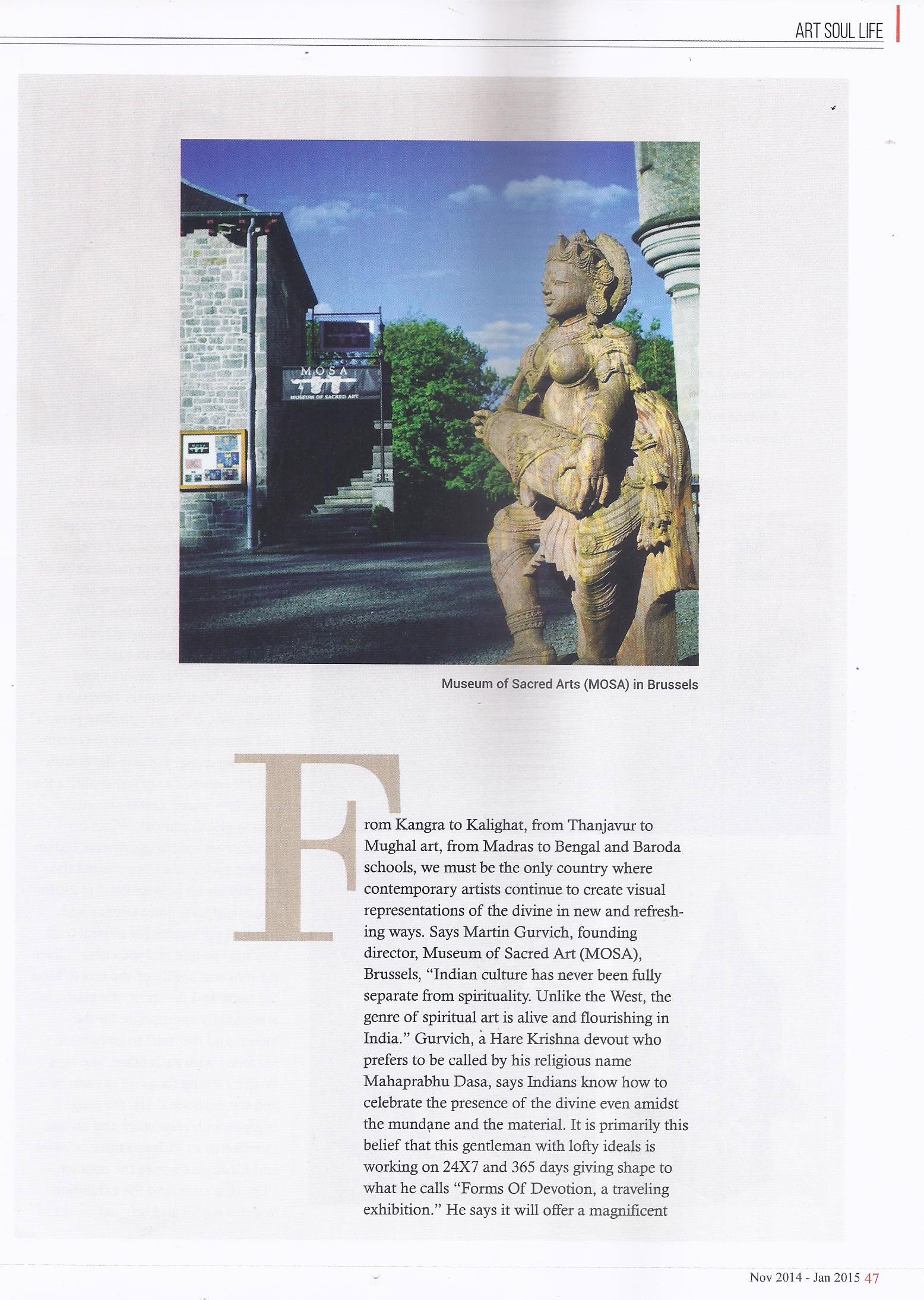 Art Soul Life (National Edition November 2014 - January 2015 Issue)- For the love of god Pg-2