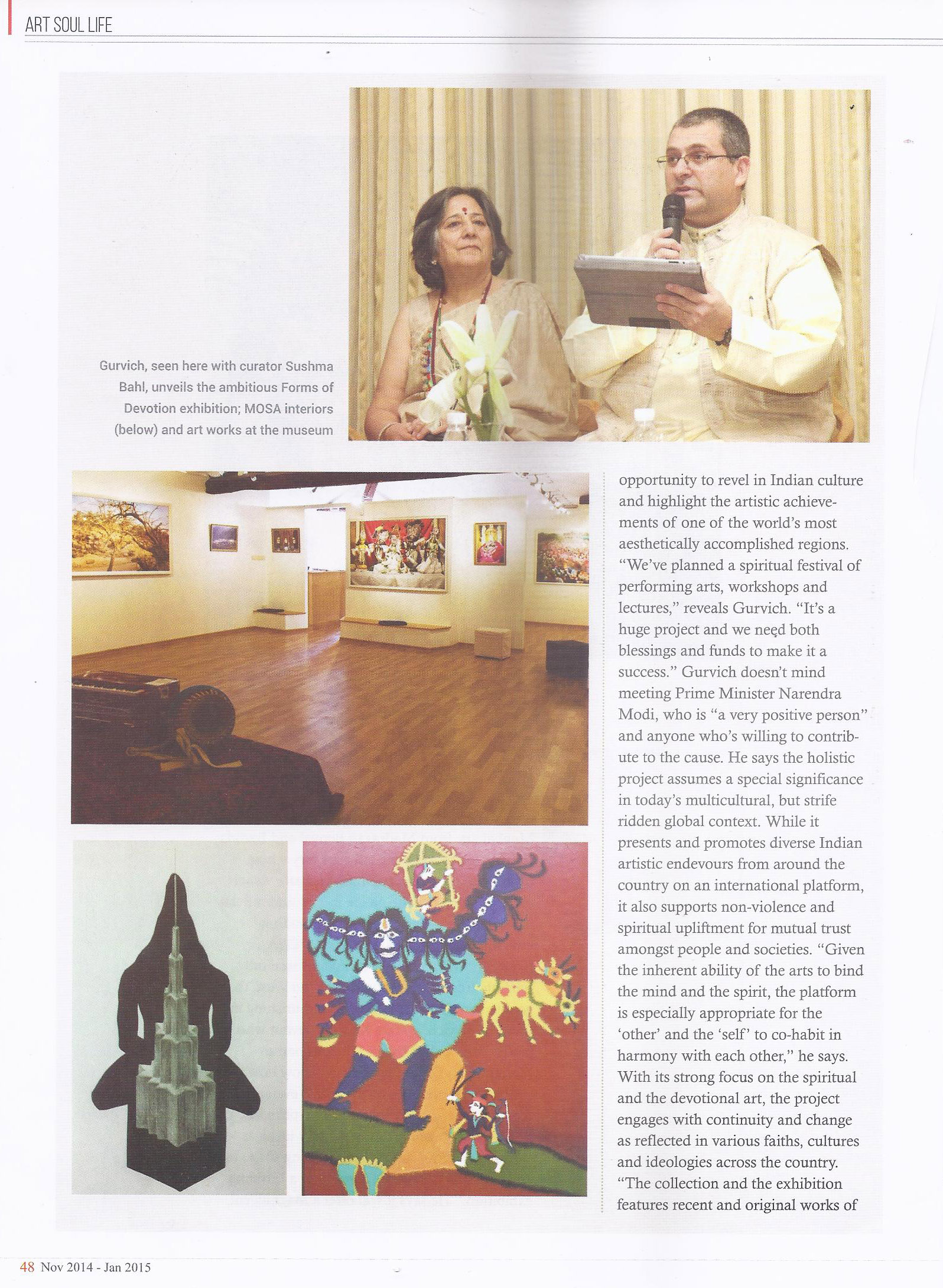 Art Soul Life (National Edition November 2014 - January 2015 Issue)- For the love of god Pg-3