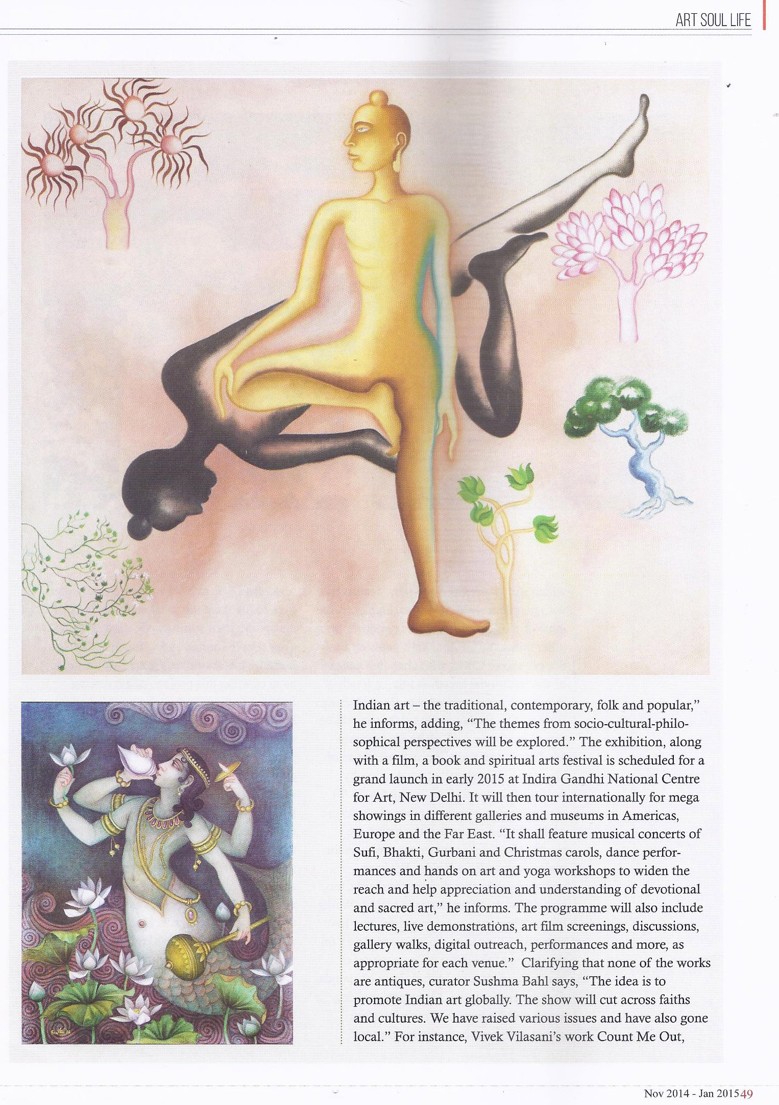 Art Soul Life (National Edition November 2014 - January 2015 Issue)- For the love of god Pg-4