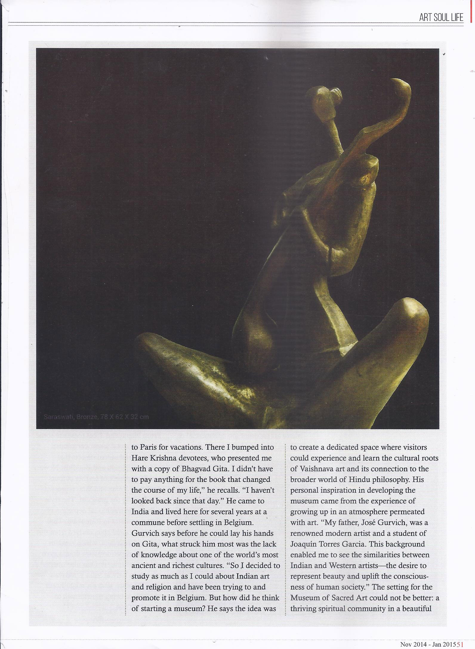 Art Soul Life (National Edition November 2014 - January 2015 Issue)- For the love of god Pg-6