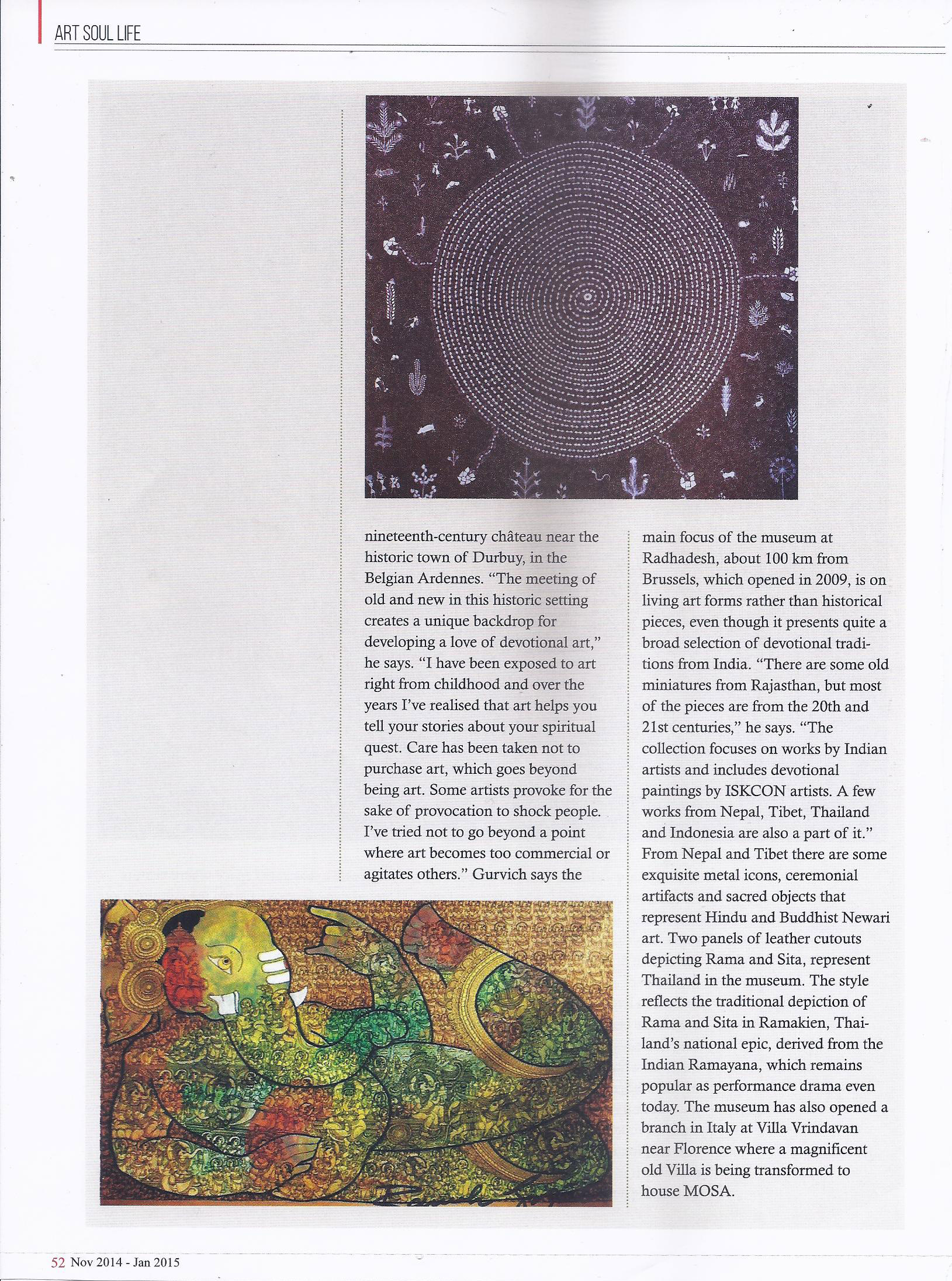 Art Soul Life (National Edition November 2014 - January 2015 Issue)- For the love of god Pg-7